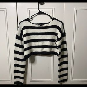 Forever 21 crop top sweater striped small